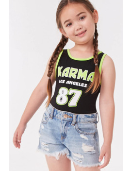 Girls Karma Graphic Bodysuit (Kids) by Forever 21