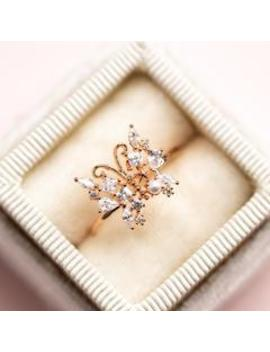 Enchanted Butterfly Ring In Rose Gold Enchanted Butterfly Ring In Rose Gold by Girls Crew