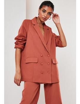 Rust Co Ord Oversized Masculine Blazer by Missguided