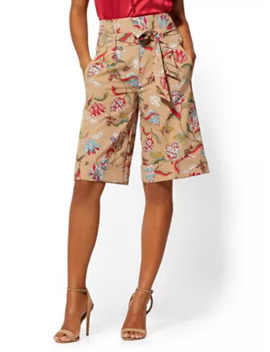 Madie Bermuda Short   Floral   Modern   7th Avenue by New York & Company