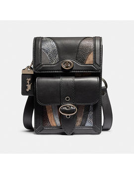 Riley Crossbody With Wave Patchwork And Snakeskin Detail by Coach