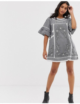 Free People Sunny Day Mixed Gingham Dress by Free People