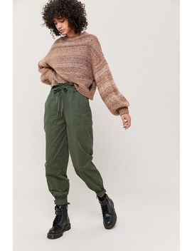 Uo Evon High Waisted Paperbag Jogger Pant by Urban Outfitters