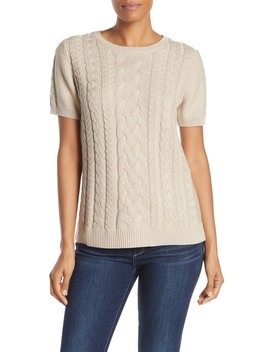 Paradise Sparkle Cable Knit Short Sleeve Sweater by Tommy Bahama