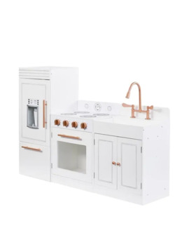 Teamson Kids  Little Chef Paris Modern Play Kitchen, White/ Rose Gold by Generic