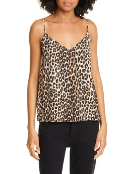 Layla Leopard Print Silk Camisole by Equipment
