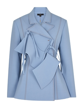 Domination Light Blue Double Breasted Blazer by Ellery
