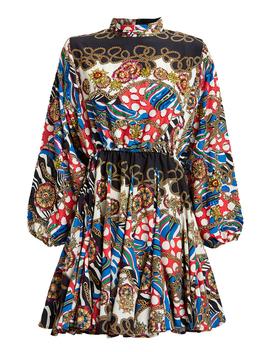 Caroline Chain Print Mini Dress Caroline Chain Print Mini Dress by Rhoderhode