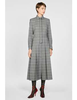 Vestido Aos Quadrados Cinto by Zara