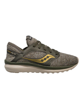 Saucony Women's Kineta Relay Running Shoes   Grey/Gold by Sport Chek