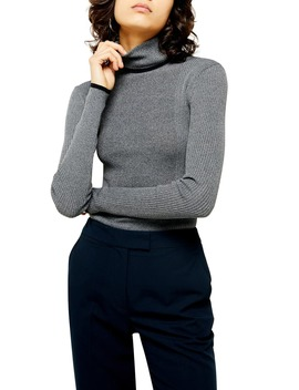 Ribbed Turtleneck Sweater by Topshop