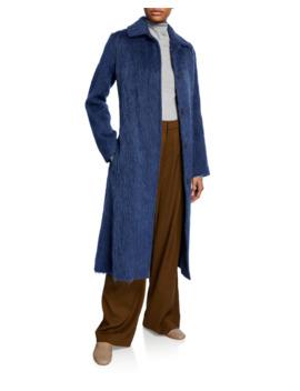 Belted Wool Blend Slim Coat by Vince