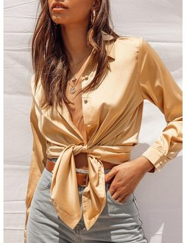 Vintage Vibes Shirt Gold by Princess Polly