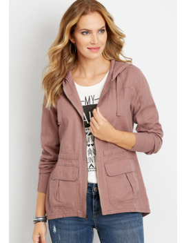Solid Hooded Anorak Jacket by Maurices
