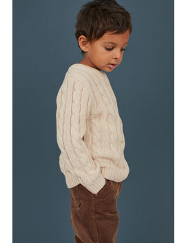 Cable Knit Cotton Sweater by H&M