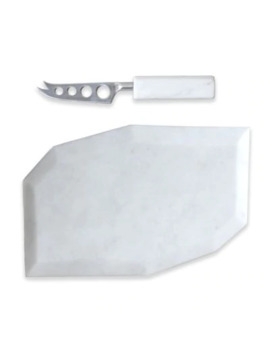 Artisanal Kitchen Supply® Geometric Marble Cheese Board And Knife Set by Bed Bath And Beyond