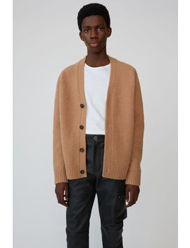 Relaxed Cardigan  Light Brown by Acne Studios
