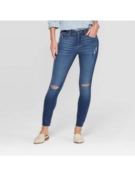 Women's High Rise Distressed Skinny Jeans   Universal Thread™ Medium Wash by Universal Thread