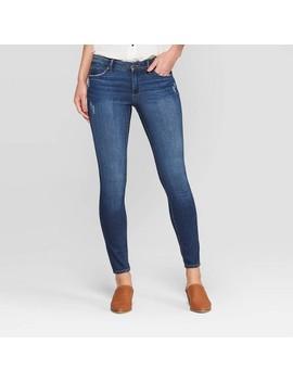 Women's Mid Rise Skinny Jeans   Universal Thread™ Dark Wash by Universal Thread