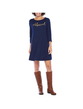 City Streets 3/4 Sleeve Fall Themed Swing Dresses by City Streets