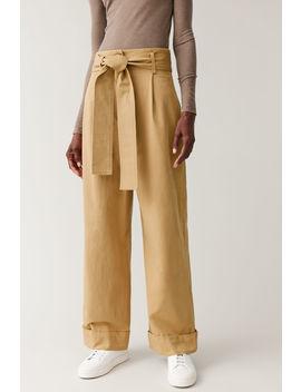 Wide Leg Cotton Pants by Cos