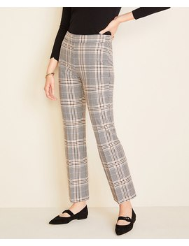The Kick Crop Pant In Plaid by Ann Taylor