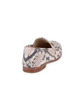 Loraine Snakeskin Print Leather Loafers by Sam Edelman