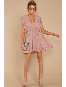 On A Rendezvous Mauve Pink Dress by Storia
