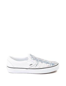 Vans Slip On Flipping Sequins Skate Shoe   White by Vans