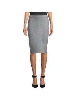 Women's Suede Pencil Skirt by Heart N Crush
