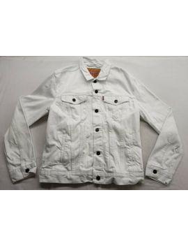New Levi's Mens 72334 0236 White Denim Classic Trucker Jean Jacket Sizes Xs 3 Xl by Levi's