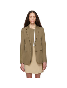 Beige Double Lapel Blazer by Helmut Lang