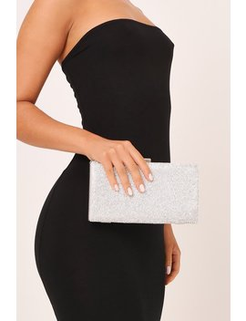 Silver Diamante Metal Clutch by I Saw It First
