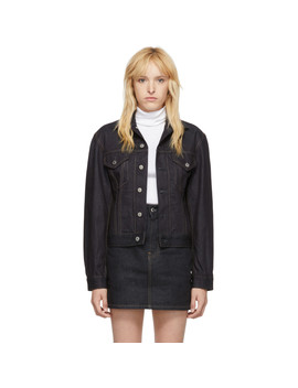 Indigo Denim Femme Trucker Jacket by Helmut Lang