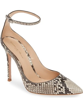 Genuine Python Ankle Strap Pump by Gianvito Rossi