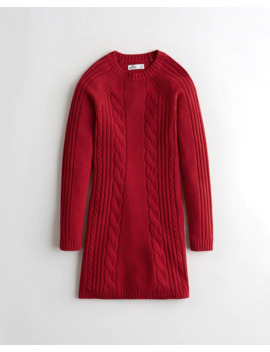 A Line Cable Sweater Dress by Hollister