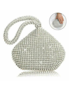 Women Evening Clutch Bag Sparkly Mini Handbag Glitter Crystal Diamante Purse Uk by Ebay Seller