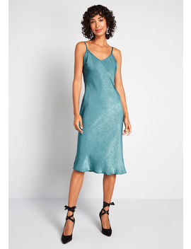 Take Notice Satin Slip Dress by Modcloth