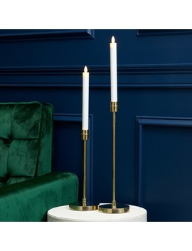 Scott Living Luxe Brass Finish Metal Candleholder by Scott Living