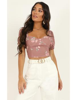For A Change Top In Blush Floral by Showpo Fashion