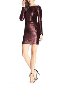 Lolita Sequin Long Sleeve Minidress by Dress The Population