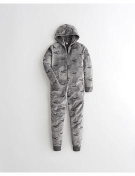 Icon Sherpa Jumpsuit by Hollister
