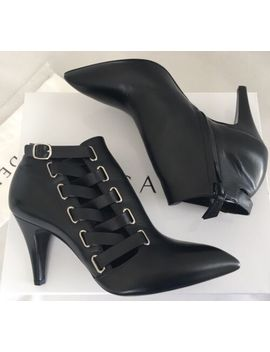 Casadei Black Leather Ankle Booties 7.5 Us/38 Eu $720 Sexy Boots by Casadei