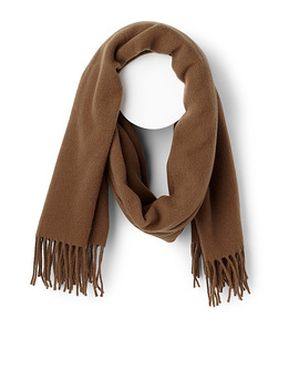 Pure Wool Fringed Scarf by Simons