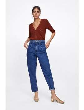 Textured Cropped Cardigan by Zara