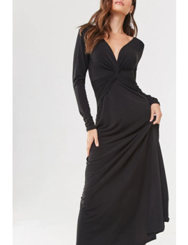 Plunging Twist Front Gown by Forever 21