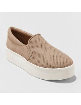 Women's Kensley Microsuede Platform Slip On Sneakers   Universal Thread™ by Universal Thread