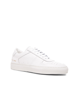 Leather B Ball Low In White by Common Projects