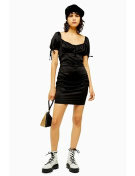 Black Gypsy Prairie Satin Mini Dress by Topshop