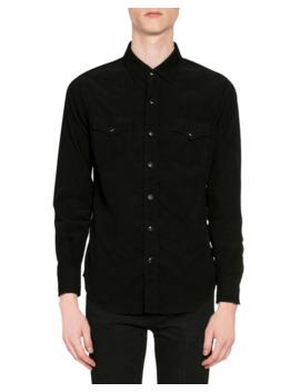 Men's Corduroy Western Shirt by Saint Laurent